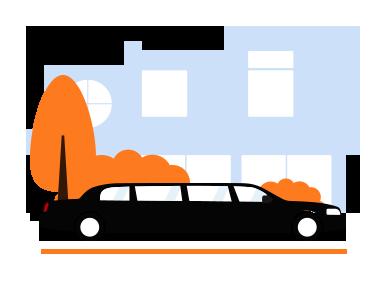 black limo transport service
